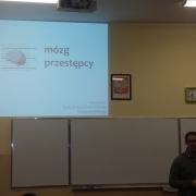 """V LO w Gańsku, wykład dr Wojciecha Glaca - """"Mózg przestępcy"""""""